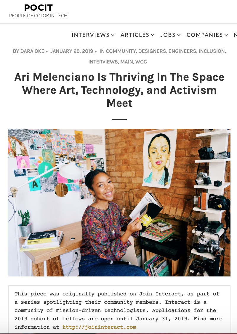 Founder, Ari Melenciano, shares her work and inspiration behind Afrotectopia