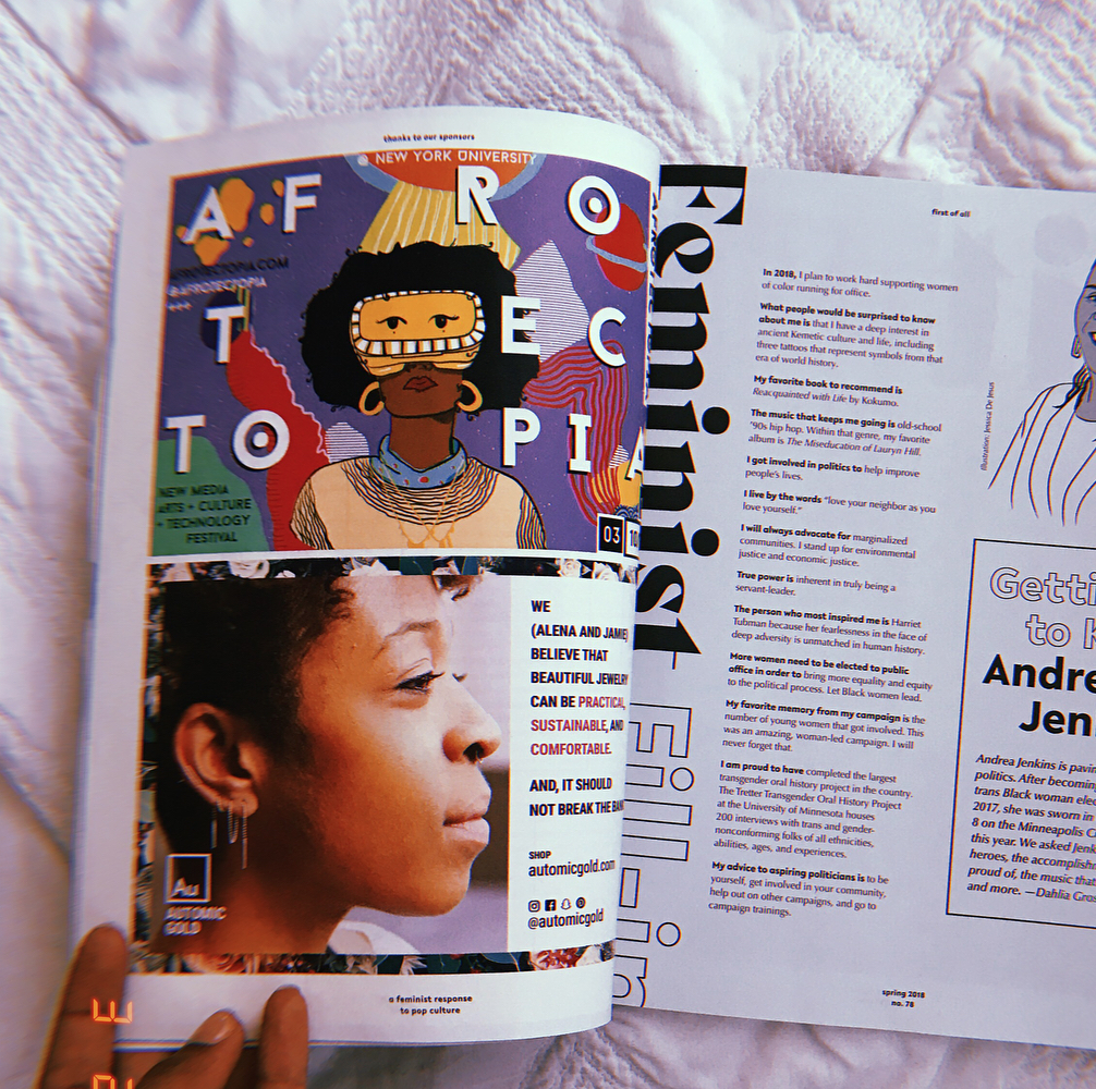 Our poster shared in BitchMedia Spring 2018 Magazine