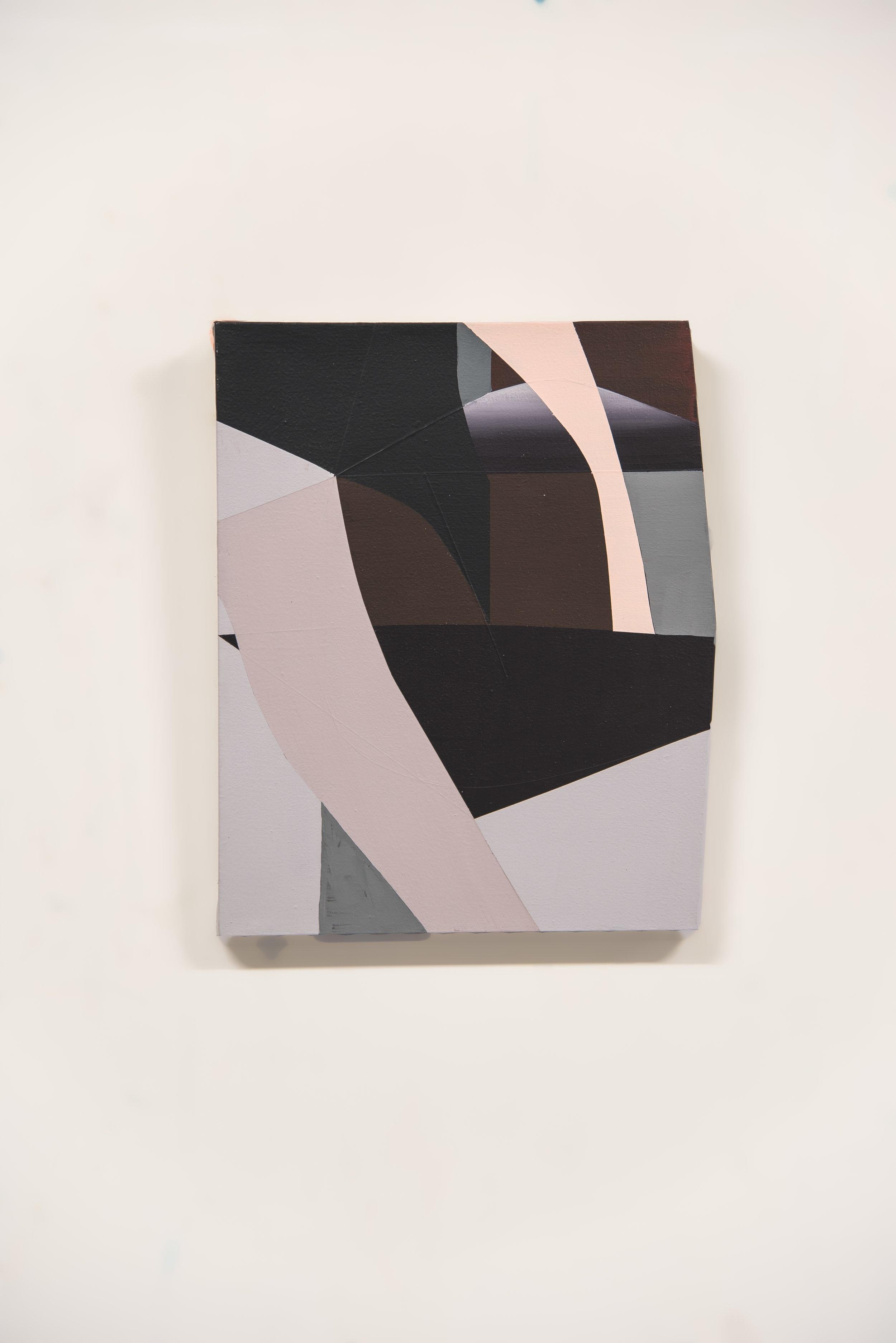 Proximity #2  Acrylic on canvas  18 x 22 in   2019