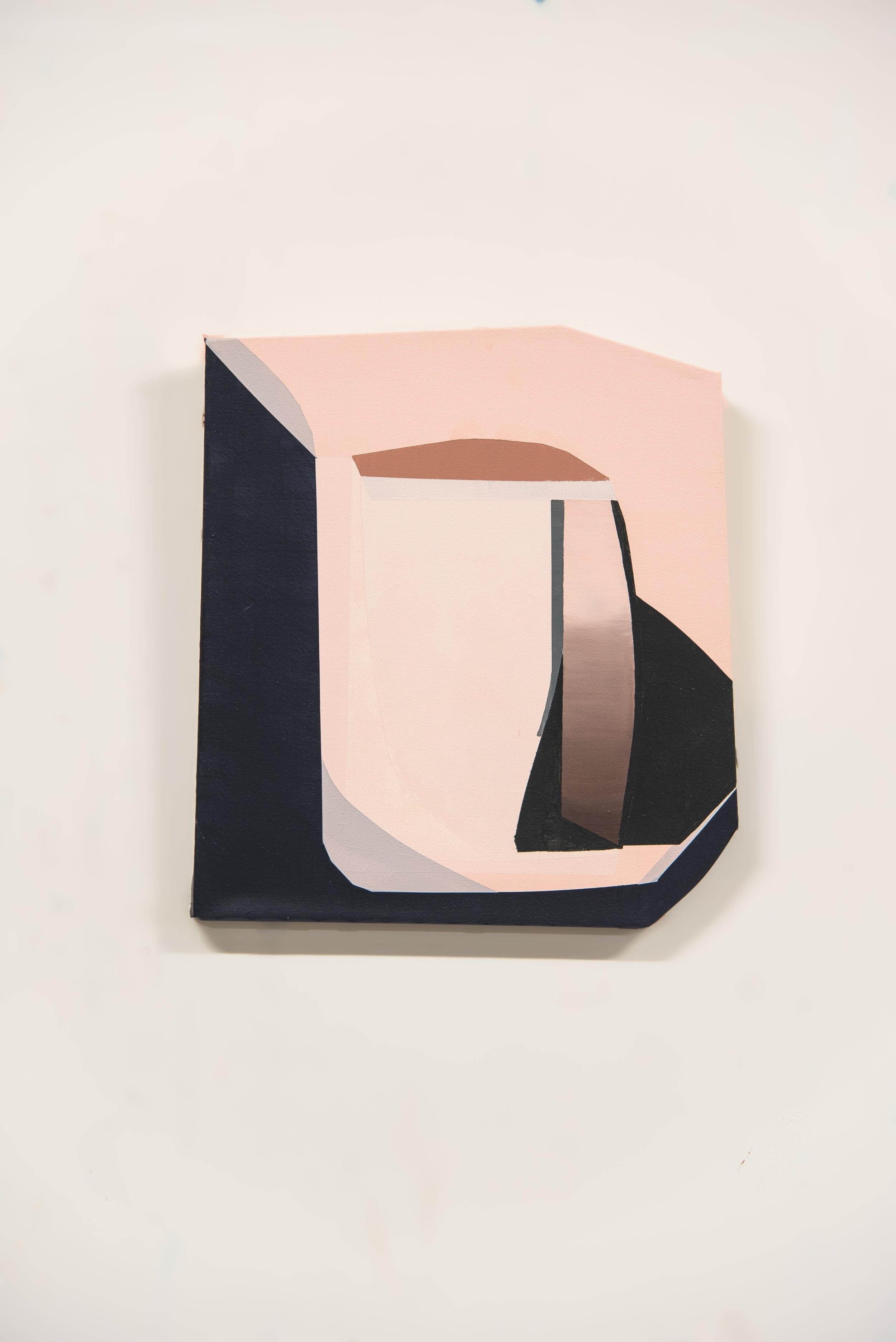 Proximity #1  Acrylic on canvas  20 x 22 in   2019