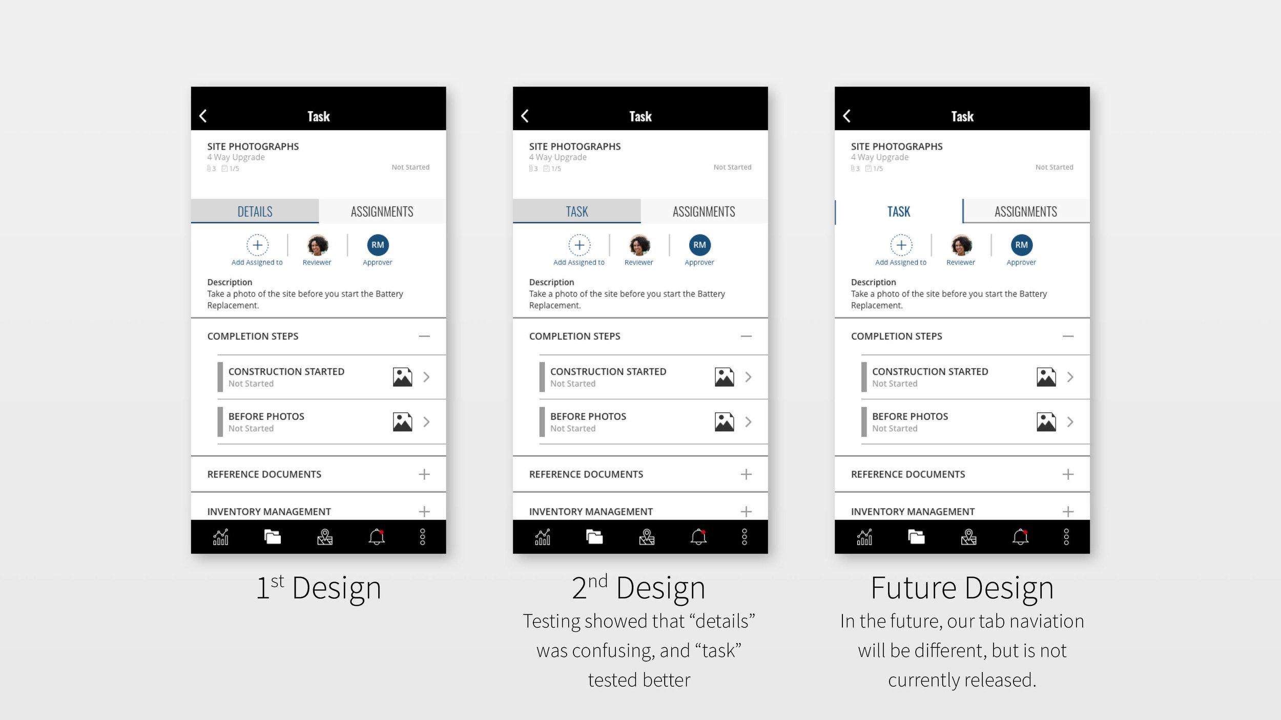 Design changes for Multiple Assign
