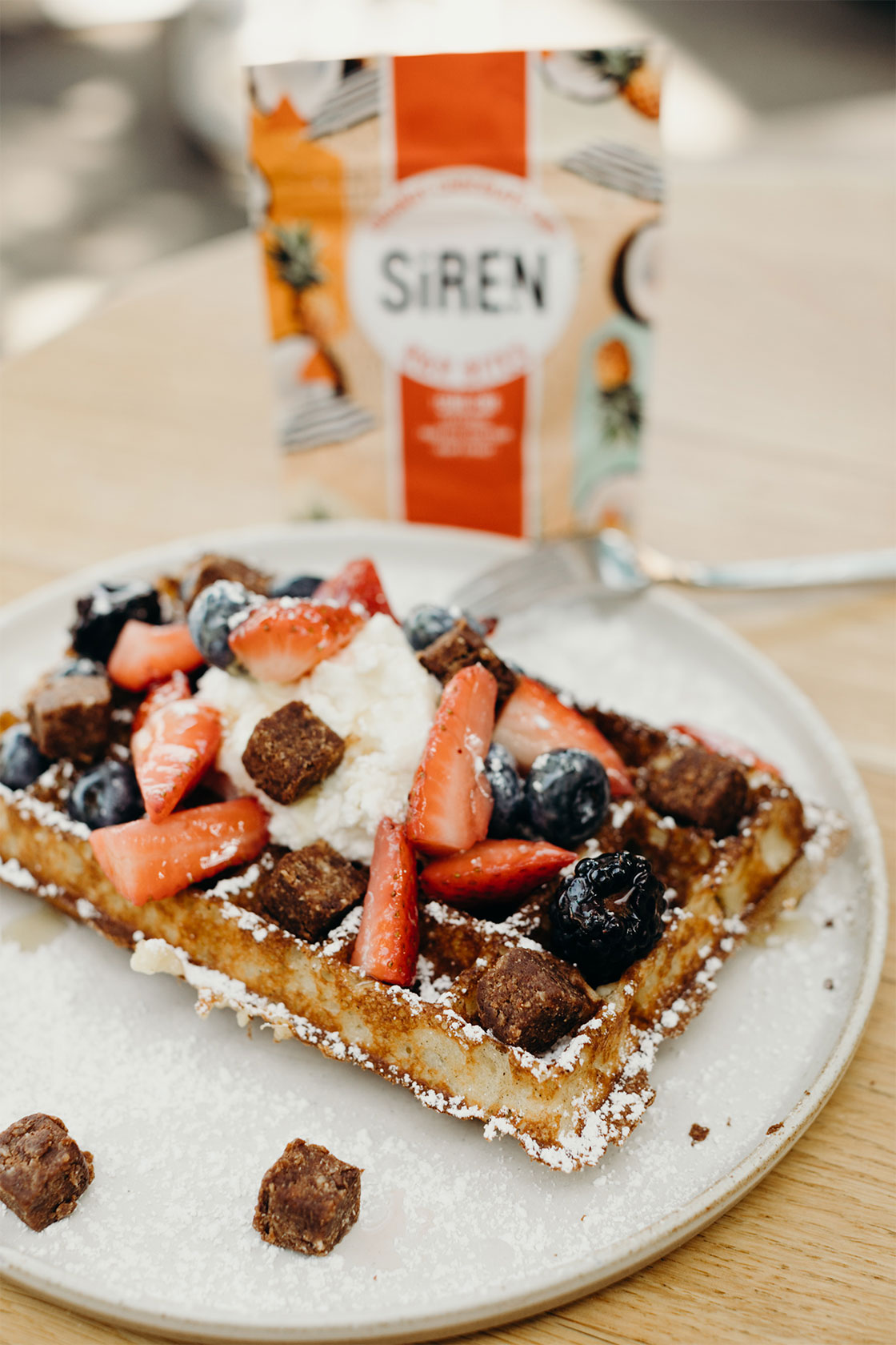 siren snacks plant based gluten free high protein snack content creation by Meraki Narrative: A Branding, Design, and Creative Agency