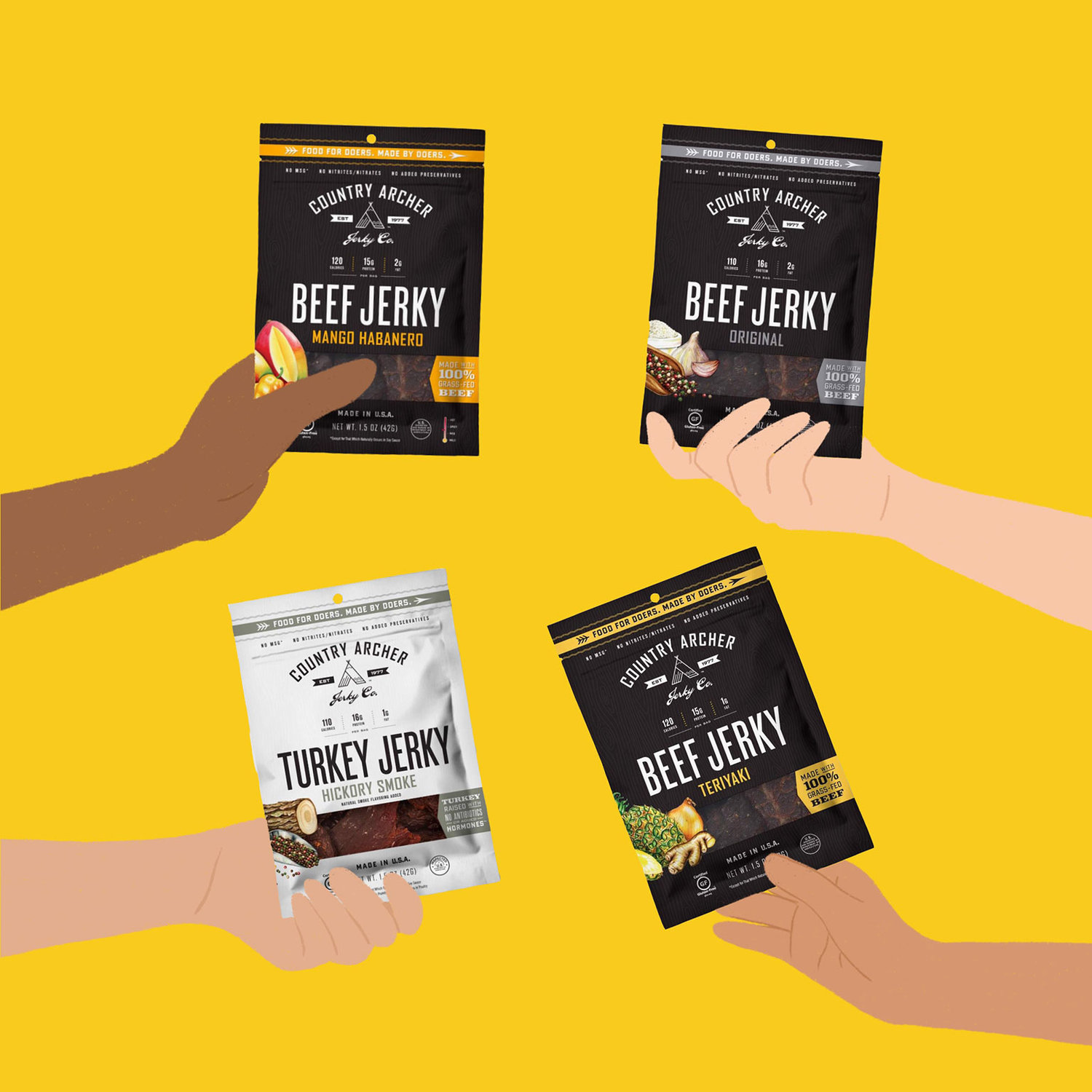 country archer organic beef jerk content creation by Meraki Narrative: A Branding, Design, and Creative Agency