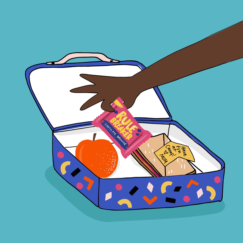 rule breaker snacks Vegan, gluten free, nut free, safe for school content creation by Meraki Narrative: A Branding, Design, and Creative Agency
