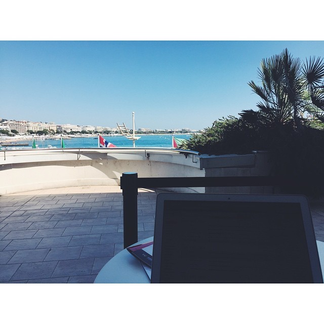 Work days are good, when my office looks like this #cannes #Cannesfilmfestival2015 #filmfestivals #worklife #film #france #southoffrance  (at Palais des Festivals, Cannes)