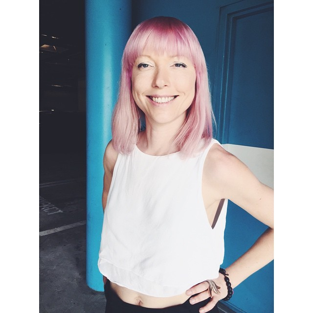 New do for the spring. Thanks @sandytuckerstylist for the great splash of color and thanks to @cerraeh for the great pic. #hairdo #pink #allaboutthepink #vsco #vscocam #vscobest #sarahtuckerstylist #cerraehlarkin #newdo #fun #spring #pinkhair