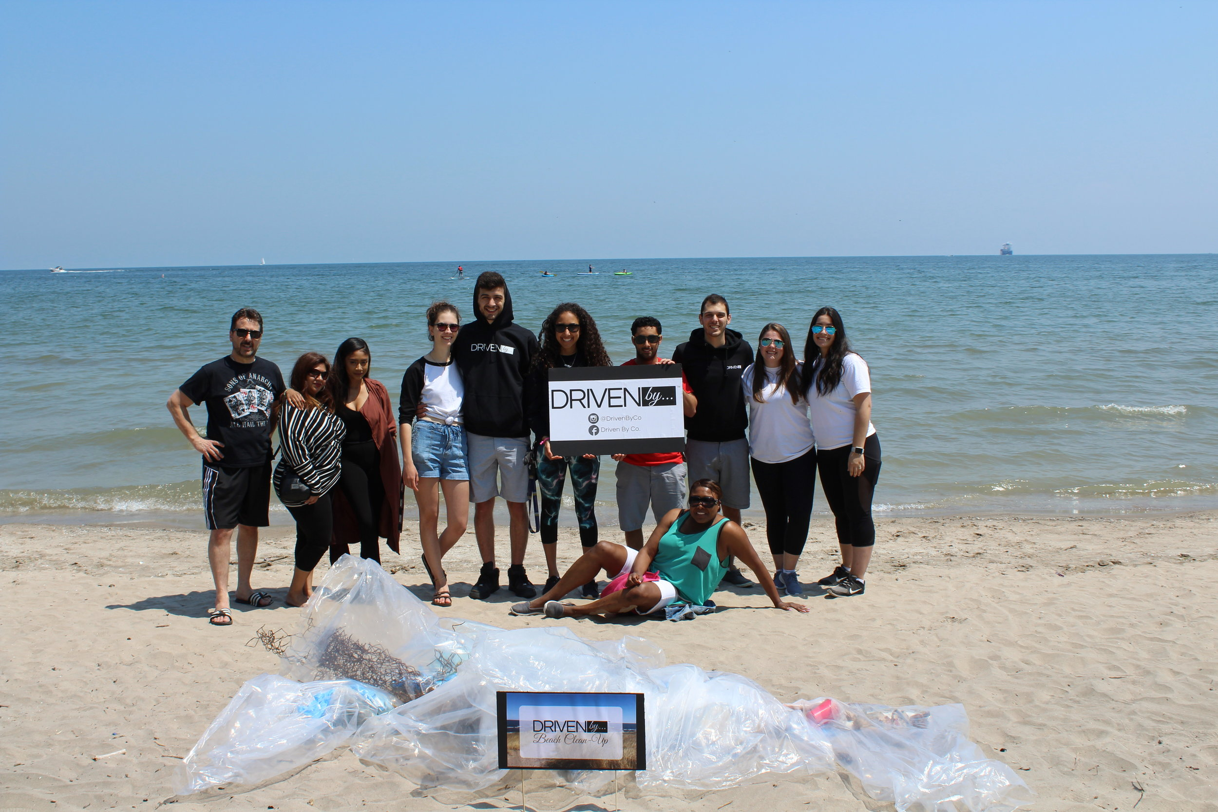 DrivenBy... Beach Clean-Up - Working as a team, we collected over 50lbs of trash on Burlington Beach on May 27th 2018. We made a huge statement on the beach as many sun bathers asked questions and commended us for what we were doing. We really don't realize how our waste is all around us!All the volunteers who were involved, explained that doing this exercise was really eye opening for them. They felt accomplished and energized, that they were able to make a tangible environmental impact.