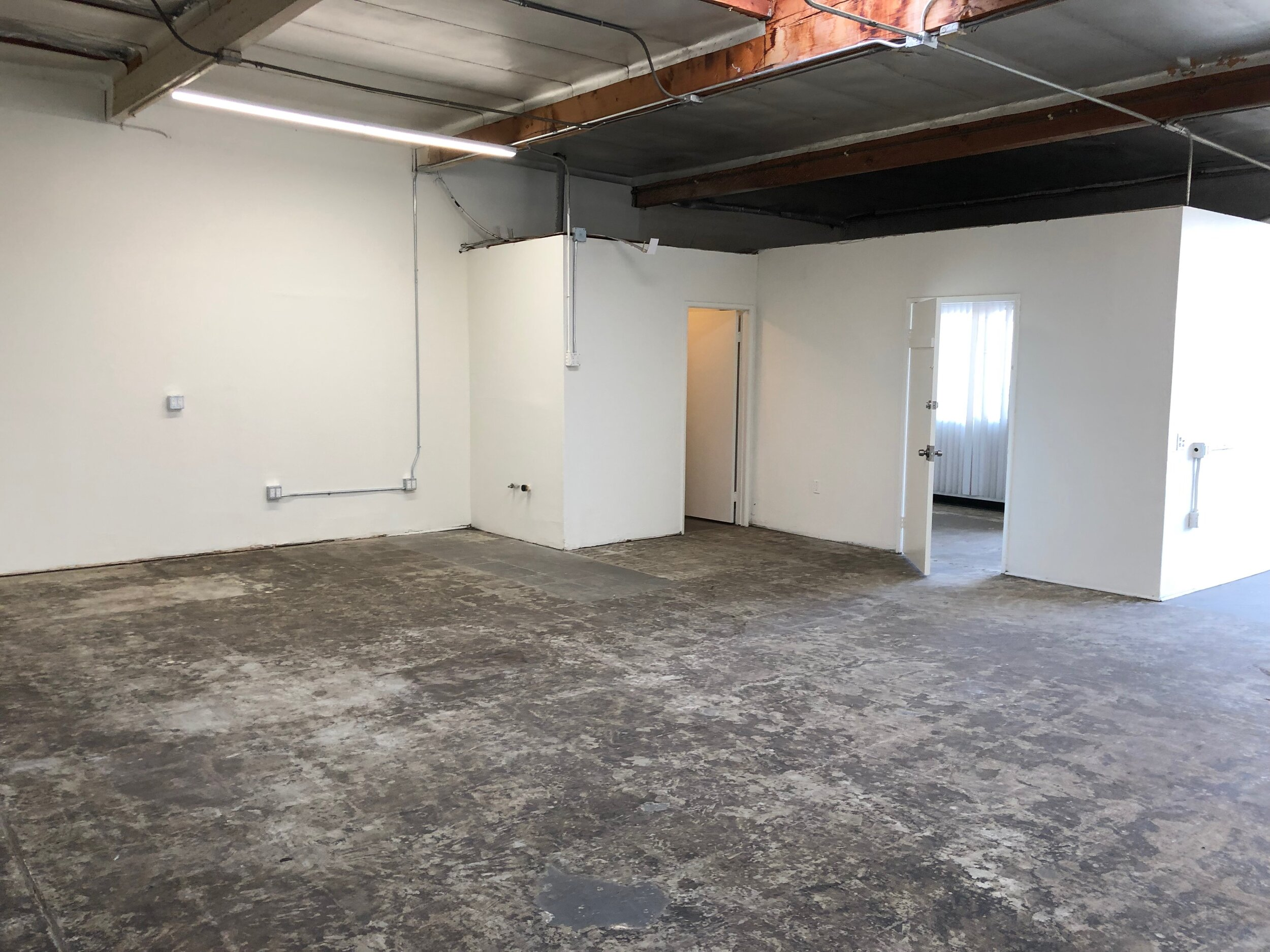 The blank shell before the floors were ground and cleaned