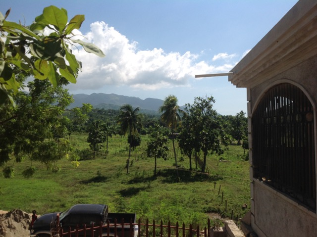 Much of the landscape surrounding the school was filled with lush greenery and crops such as corn and arabica coffee.