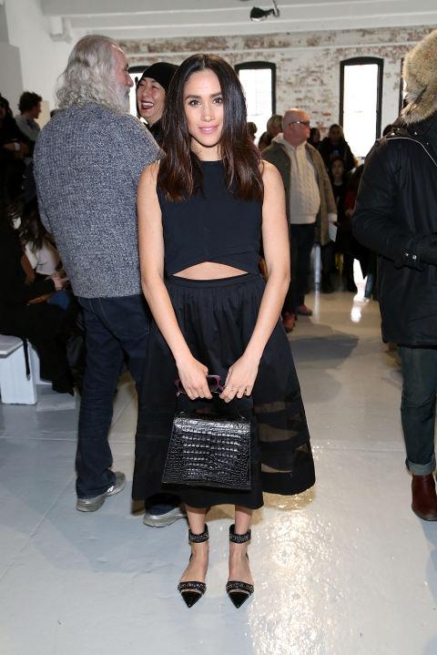 Meghan Markle attends the Misha Nonoo fashion show during Mercedes-Benz Fashion Week Fall 2015