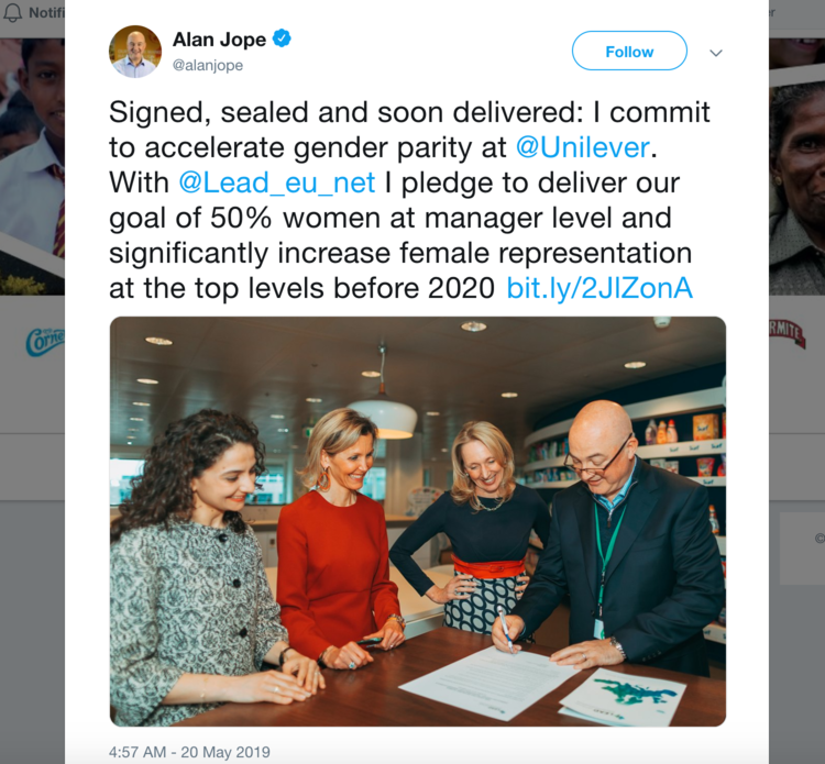 Unilever's CEO Alan Jope Latest Tweet Will Certainly Touch Your Heart Openletr Feminist News.png