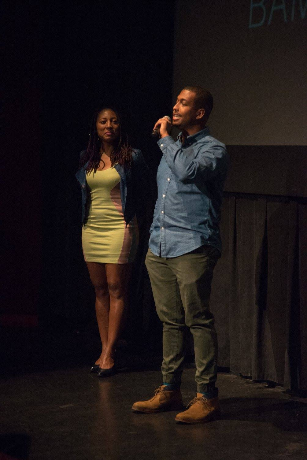 Nigerian film director Iquo B. Essien screens New York, I Love You at the New Voices in Black Cinema Festival at Brooklyn Academy of Music.
