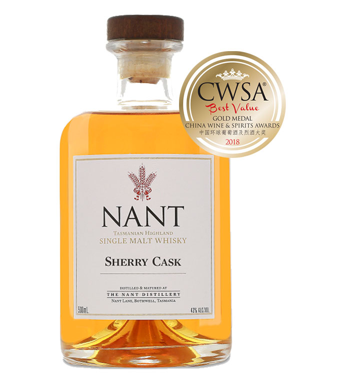 CWSA 2018 Gold Medal - Sherry Cask 43%