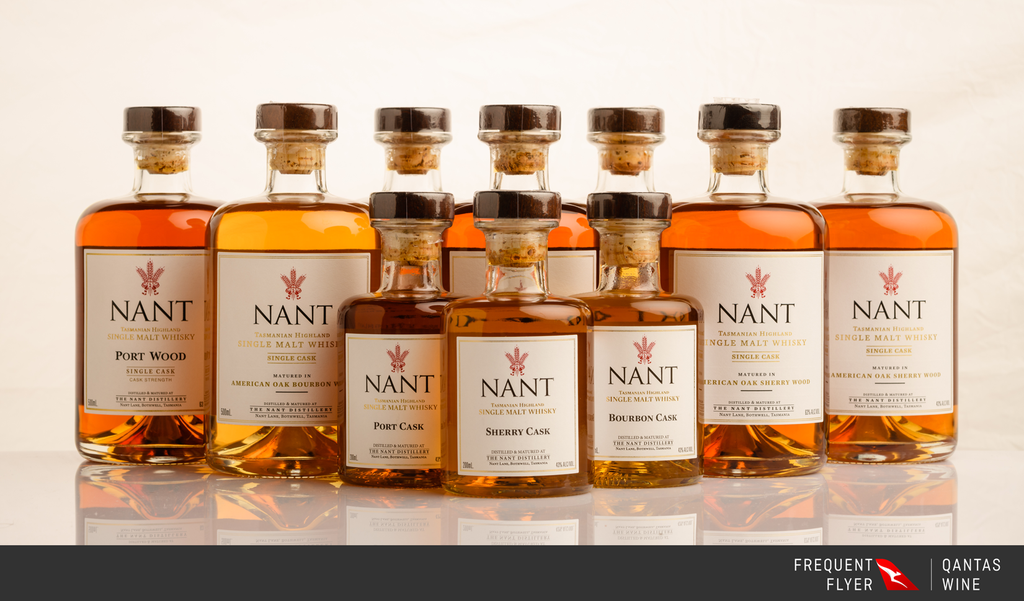 The Nant single malt whisky classic collection joins the boutique Qantas Wine cellar door. -