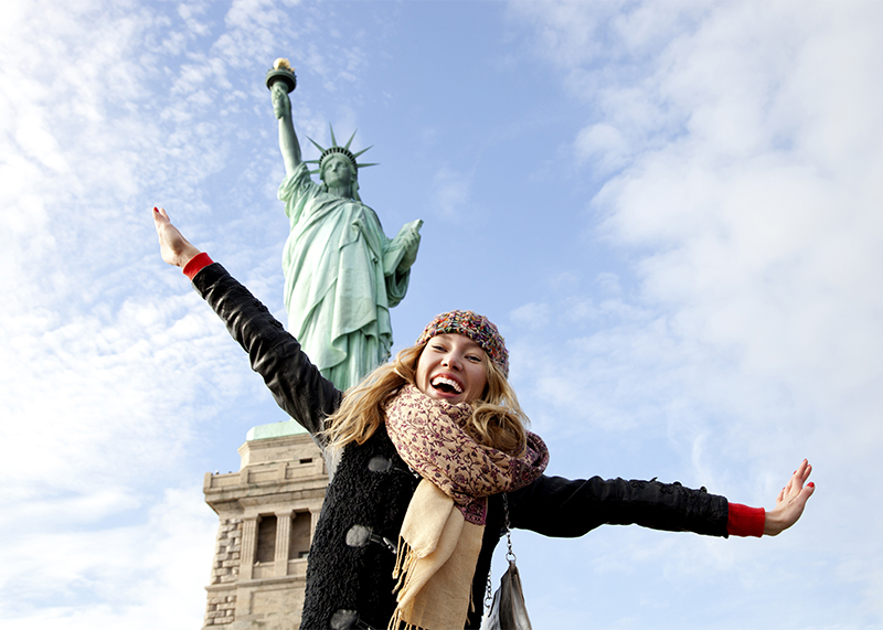 USA - Sing your way from the East Coast to the West and don't forget to stop in on the Statue of Liberty, a Broadway Show, the Golden Gate Bridge and Hollywood Boulevard!
