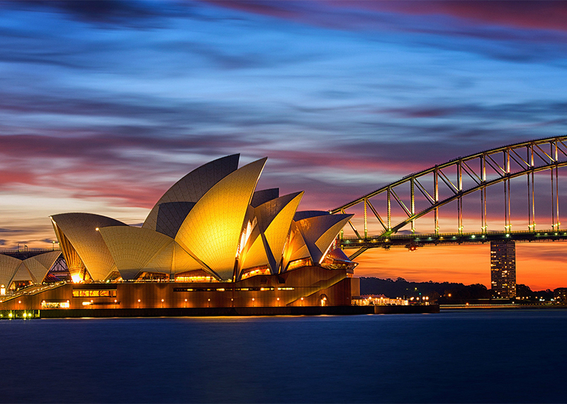 AUSTRALIA - Savour your performance in the Sydney Opera House during the Australian International Music Festival, wow the crowds at Darling Harbour, or explore the cultural mecca of Melbourne - Australia has everything to offer!