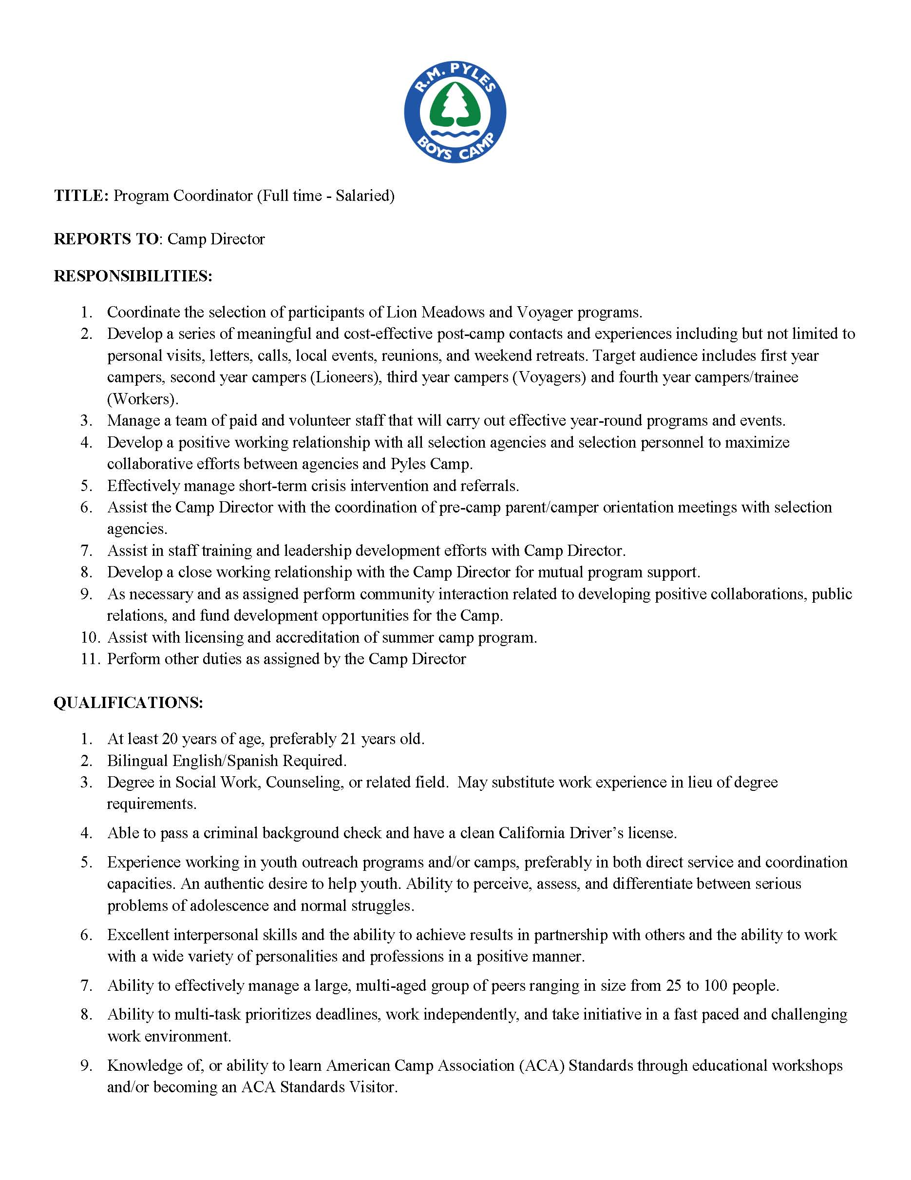 2019 Pyles Camp Program Coordinator Job Description_Page_1.jpg
