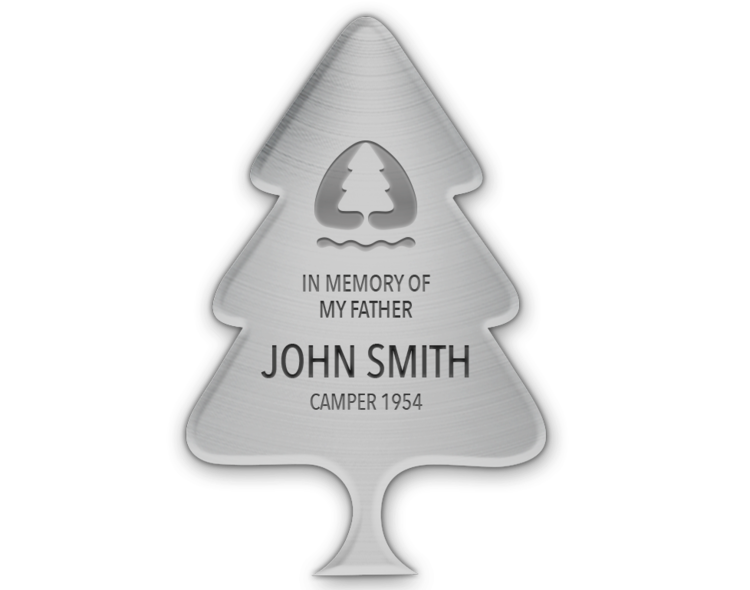 """6"""" Silver Plaque with 4 Lines of Custom Text - $1,000  All 4 lines are able to be customized"""