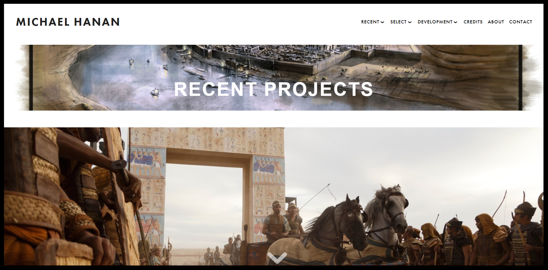 The homepage of the new website is shown above.