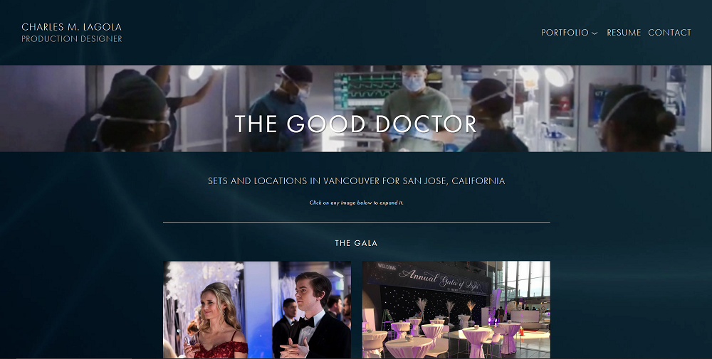 "The project page for ""The Good Doctor""."