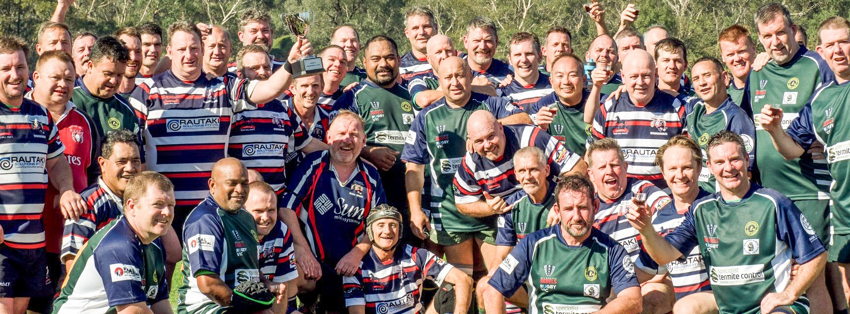 Rusty Memorial Cup - Box Hill v Maroondah. Vic Masters Round 1 @ Maroondah Rugby Club - 21st April 2018