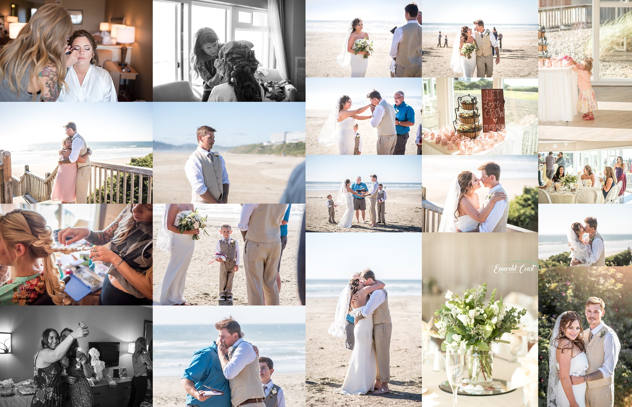 Oregon Wedding Photographer Newport Simple Beach