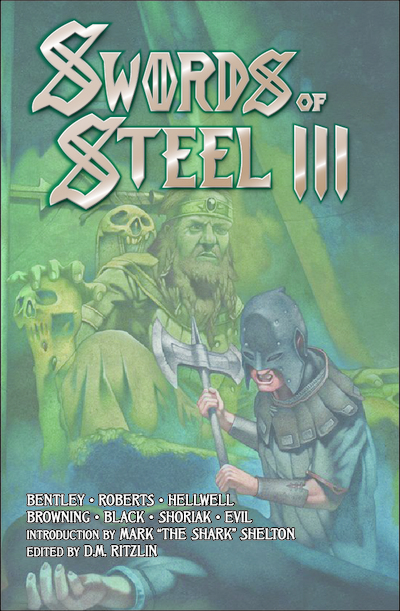 Swords of Steel III - A NEW CHAPTER OF STEEL BEGINS...Just when you thought the dust had settled, the scriveners of arcane metal lore invoke a fresh wave of dark and twisted dreams from worlds beyond our own.Join a cast of writers both new and old including Byron Roberts (Bal-Sagoth), Howie Bentley (Cauldron Born), Mike Browning (Nocturnus), E.C. Hellwell (Hellwell) and many more, PLUS a terrifying host of illustrations and an exclusive introduction by the legendary Mark Shelton (Manilla Road).Charge into the fray with SWORDS OF STEEL III at your side!Contents:Introduction by Mark