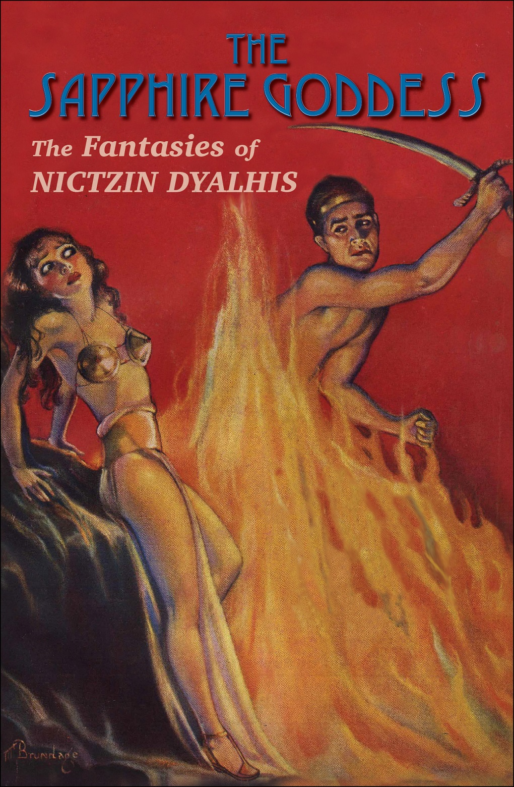 The Sapphire Goddess - The Fantasies of Nictzin Dyalhis - At last, the stories of one of the most unusual writers of weird fiction are collected! This volume contains all of Nictzin Dyalhis' works of fantasy and science fiction, many of which have never before been reprinted. Those who love the wild imagination and masterful prose of authors such as Clark Ashton Smith and C.L. Moore are sure to enjoy this collection.Contents:When the Green Star WanedThe Eternal ConflictHe Refused to Stay DeadThe Dark LoreThe Oath of Hul JokThe Red WitchThe Sapphire GoddessThe Sea-WitchHeart of AtlantanClassic Size: 6.5