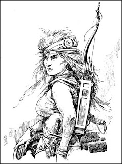 RGK's illo of Red Sonya of Rogatino for  The Sowers of the Thunder .
