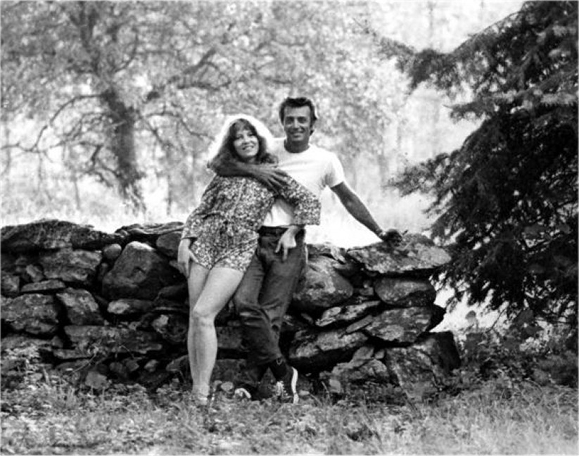 Ellie and Frank on their Pennsylvania estate in the 1970s. The Frazetta Museum, Ellie's dream project, would later be built there.