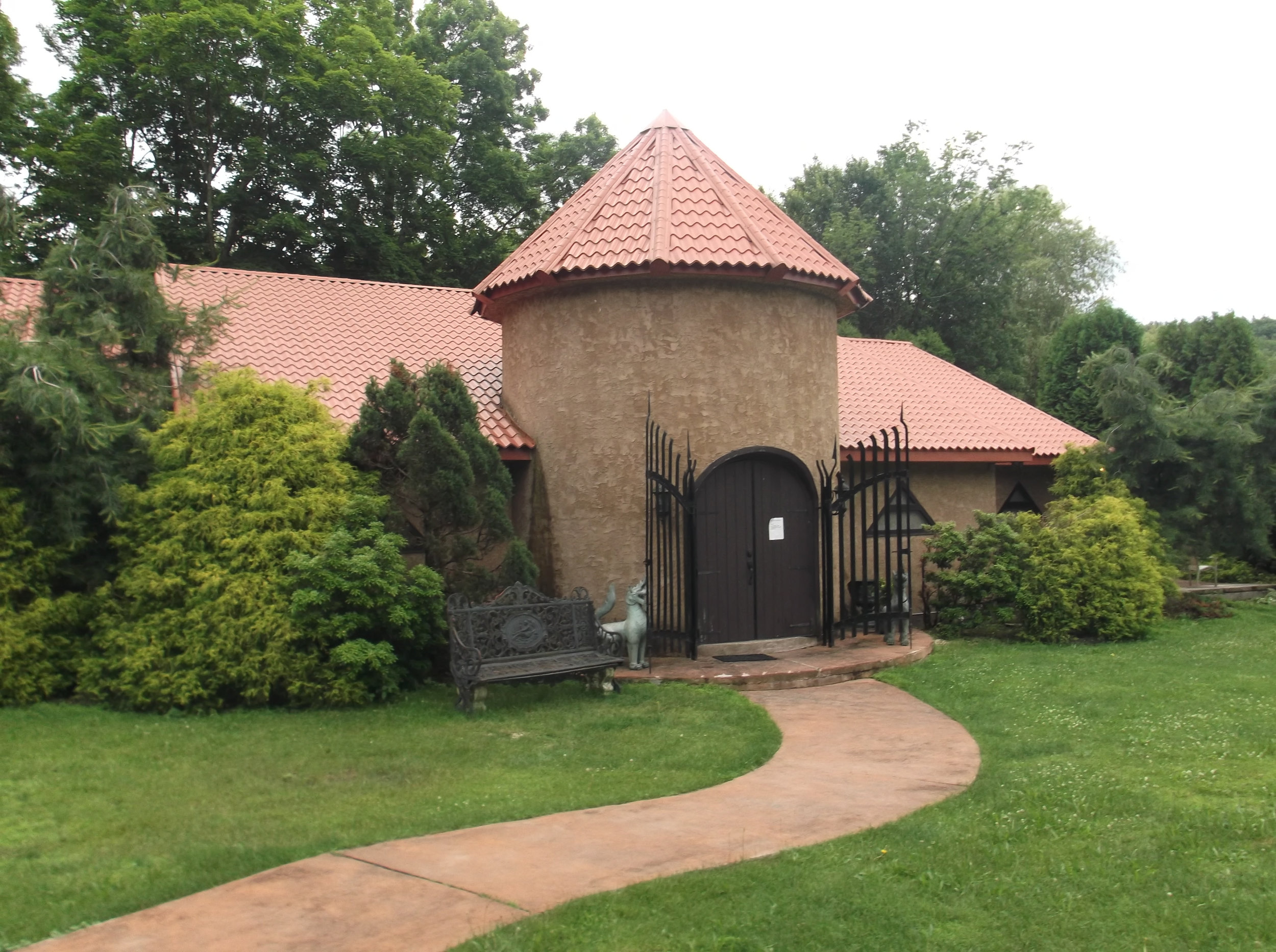 The Frazetta Museum, near East Stroudsburg, Pennsylvania. Designed by Frank, made a reality by Ellie.