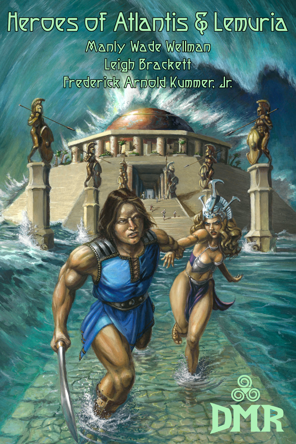 """Heroes of Atlantis & Lemuria - """"I looked in their evil eyes and they crouched like cravens,I showed them my sword, and they trembled and louted low.I gave their bones for food to the rats and ravens,And I pray the gods for another and fiercer foe.""""Of all the heroes of the legendary land of Atlantis, none were greater than Kardios, warrior and bard! In his travels he encounters creatures from the stars, self-proclaimed gods, nefarious wizards, and untrustworthy lascivious queens. For years fans of sword-and-sorcery fiction have demanded a collection containing all of Manly Wade Wellman's tales of Kardios. Their demands had not been met—until now! In addition, this book contains all of Frederick Arnold Kummer, Jr.'s Lemurian adventure stories (also never collected before) and a hard-to-find Leigh Brackett story set in Mu. Join the heroes of Atlantis and Lemuria on their fantastic adventures!""""Here was danger, here was strife,Here was conquest, too;Yonder lies the road of life,More to see and do.""""Trade Paperback: 9"""" x 6"""", 232 pages, $14.99Digital: $2.99"""