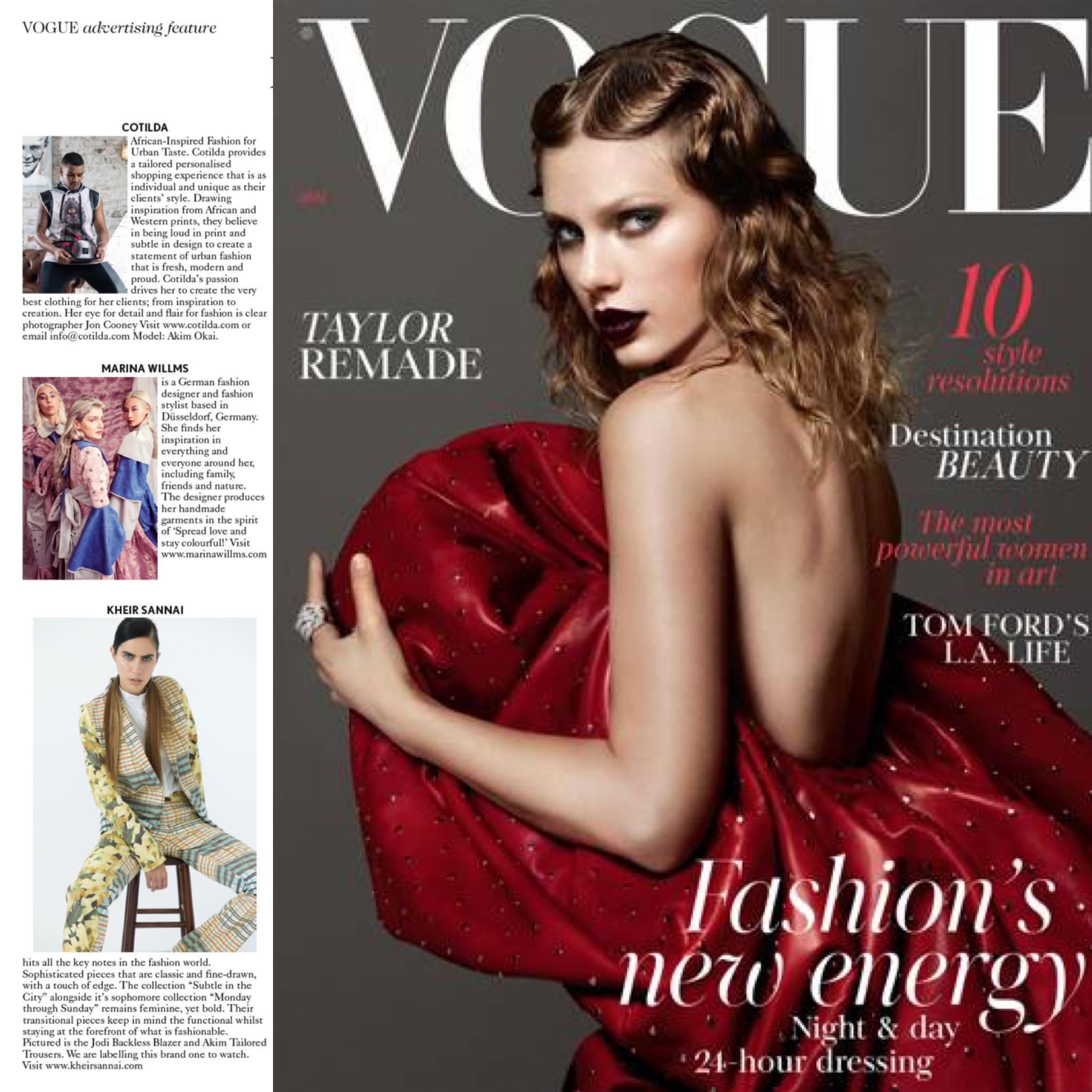 British Vogue January Issue 2018