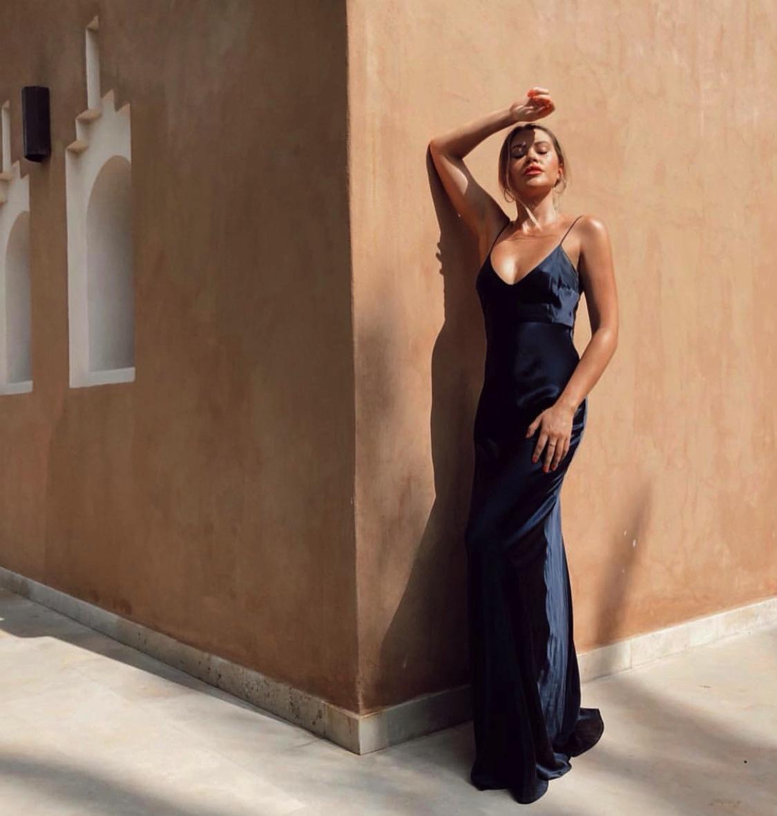 Caelynn Miller- Keyes wearing the Diana silk dress.