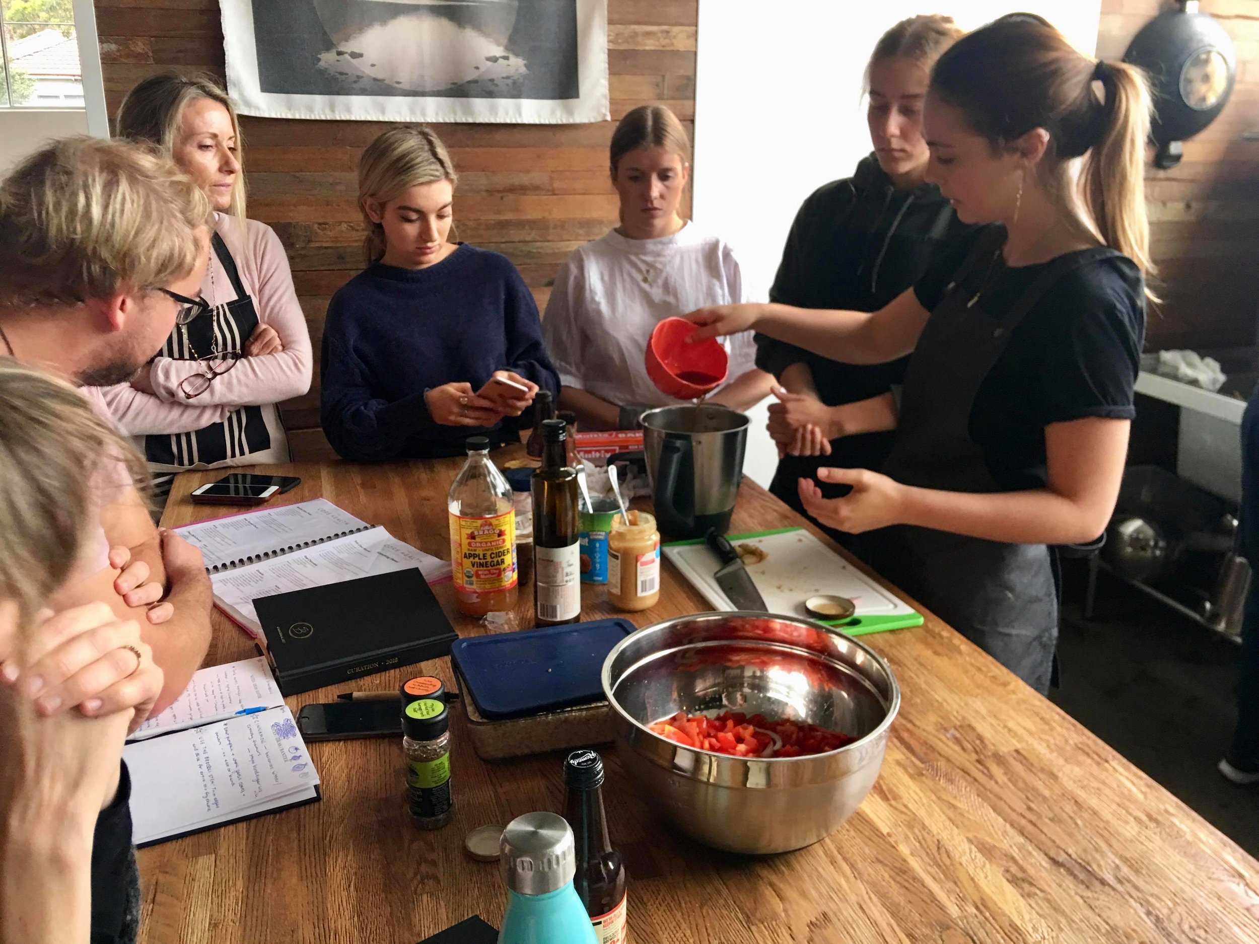 Corporate Cooking Workshops - A fun and involved way for teams to come together, build healthy eating practices and make conscious time to nourish themselves.
