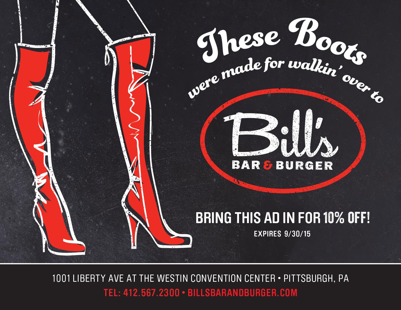 Playbill,Bill's Bar & Burger, Print