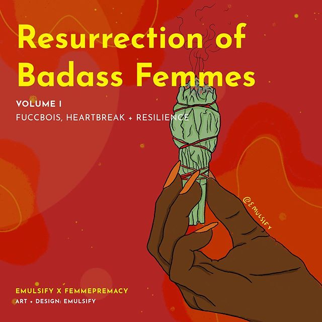 "✨ Resurrection of Badass Femmes Volume I ✨ hi bbs! happy monday! I'm so excited to share the zine that @femmepremacy and I have been working on. You can grab a digital or physical copy through the link in my bio 💖❤️ Featuring:  Flo Glo @flo.glo Naajia ""Jia"" Hurd / @GiaJustice Serena Sankofa Shayna Janelle / @femmepremacy Monica Lopez-Lara / @muchamonica Gata Salvaje / @gatasalvaje Gabriel / @interruptinggirljoke Jesi Concepcion / @jestoofresh  Prisca Dorcas / @priscadorcas Ariana Mohammad / @miss.meraj Ellee Nairobi Hilaire Melinda González / @lapoetaguerrera Amina Iro / @liminalshorty CharlesB. / @poemsbycherles Zenobia Bholai Mori aka @IntelligentJamPrincess Shireen / @bluntedbruja Shivani Dave Shakeisha Lilian Levene / @slizzlehibiscus . . . . . . . . . . . . . . #art #artists #qpoc #illustration #emulsifyart  #undocuart #latinx #procreate #fromtheheart #love #queerart #arttherapy #enby #feministart  #tender #heal #immigrant #selfcare #community #r29regram #sketchaday #healing #illustrationoftheday #femmesofcolor #zine"