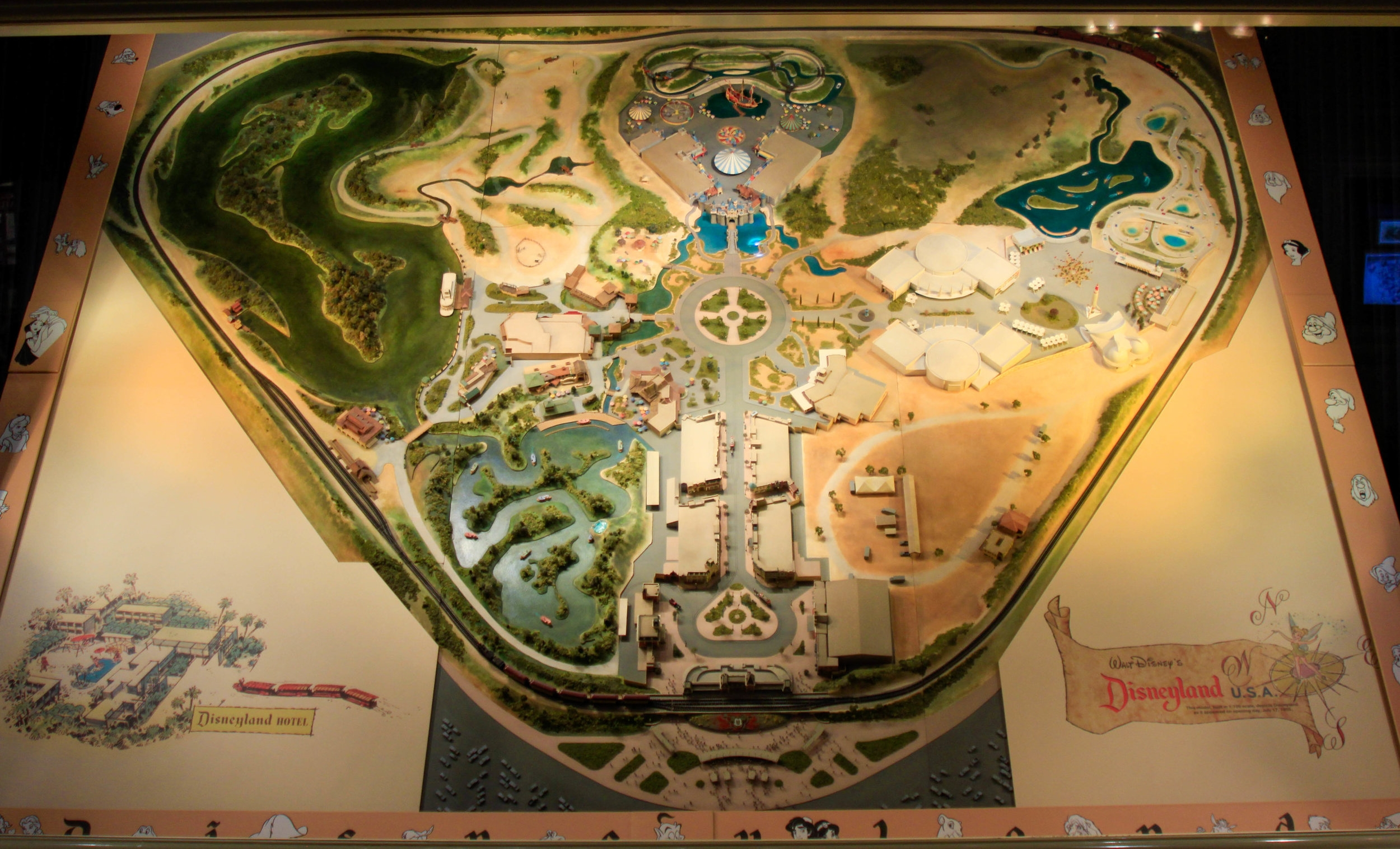 Early Disneyland Map on Display at the Opera House