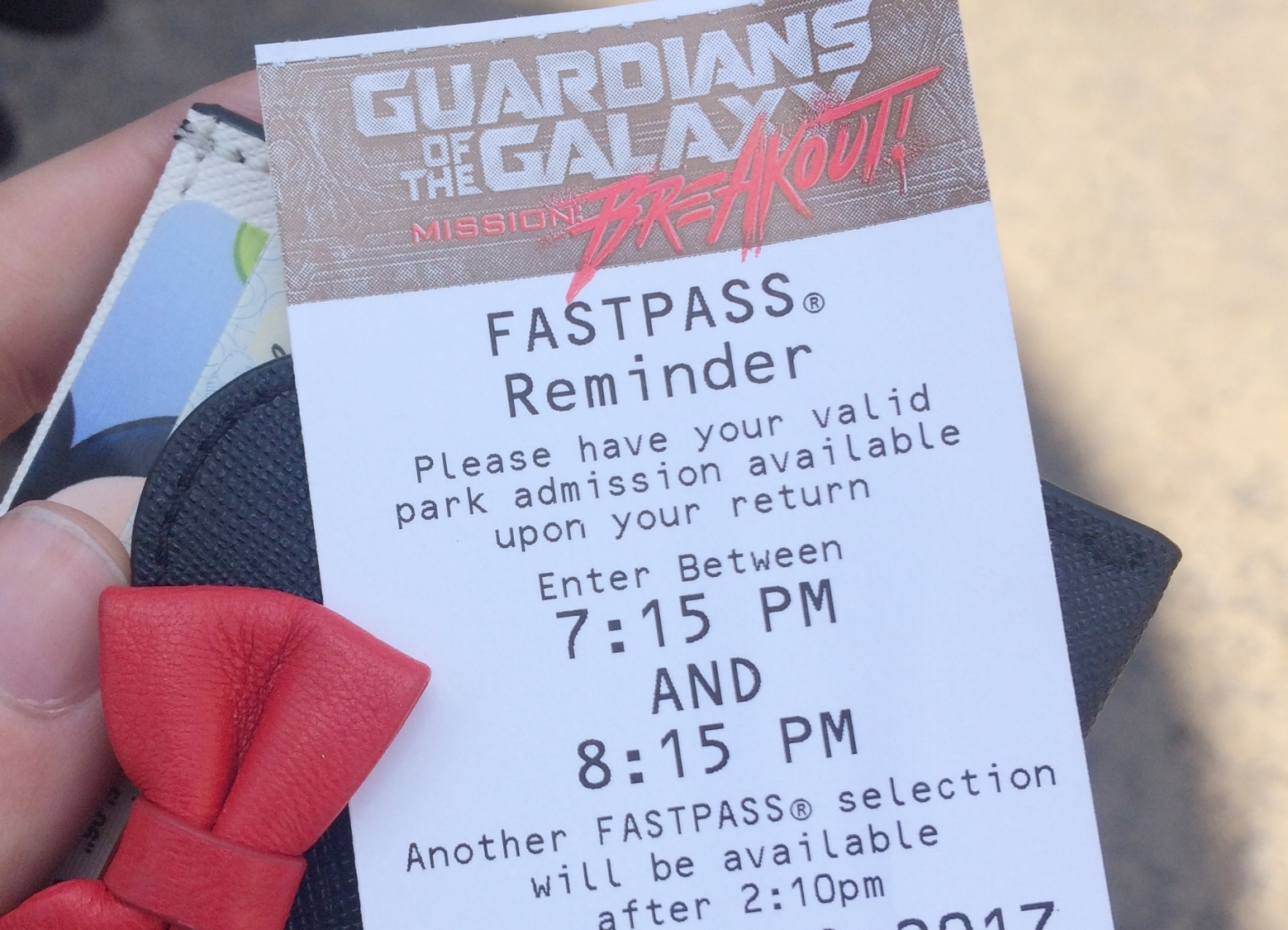 fast pass reminder