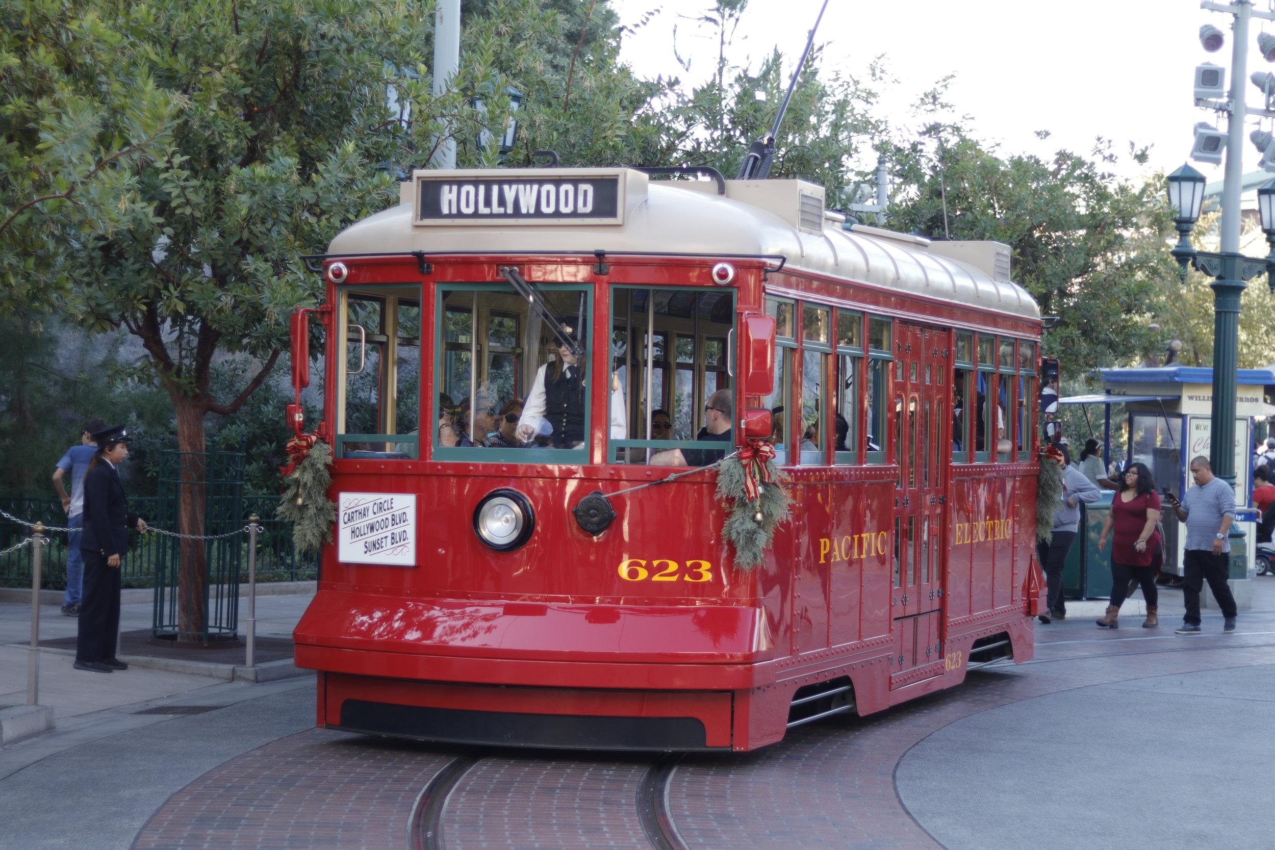 buena vista red car trolley holiday