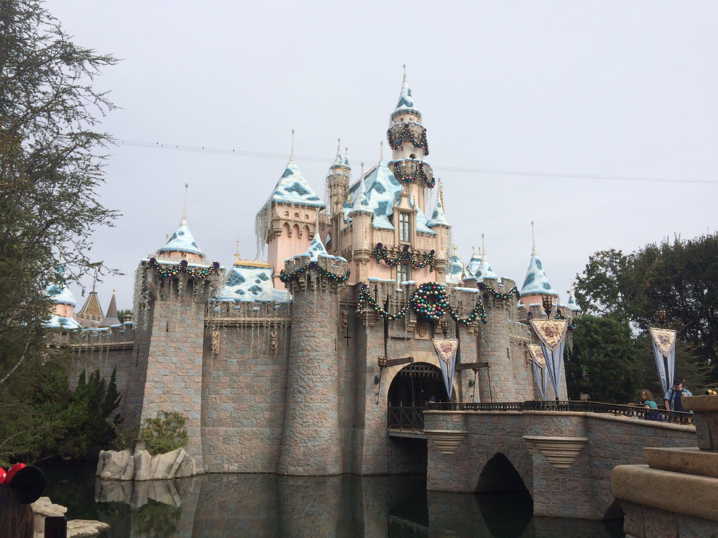 holiday castle disneyland sleeping beauty