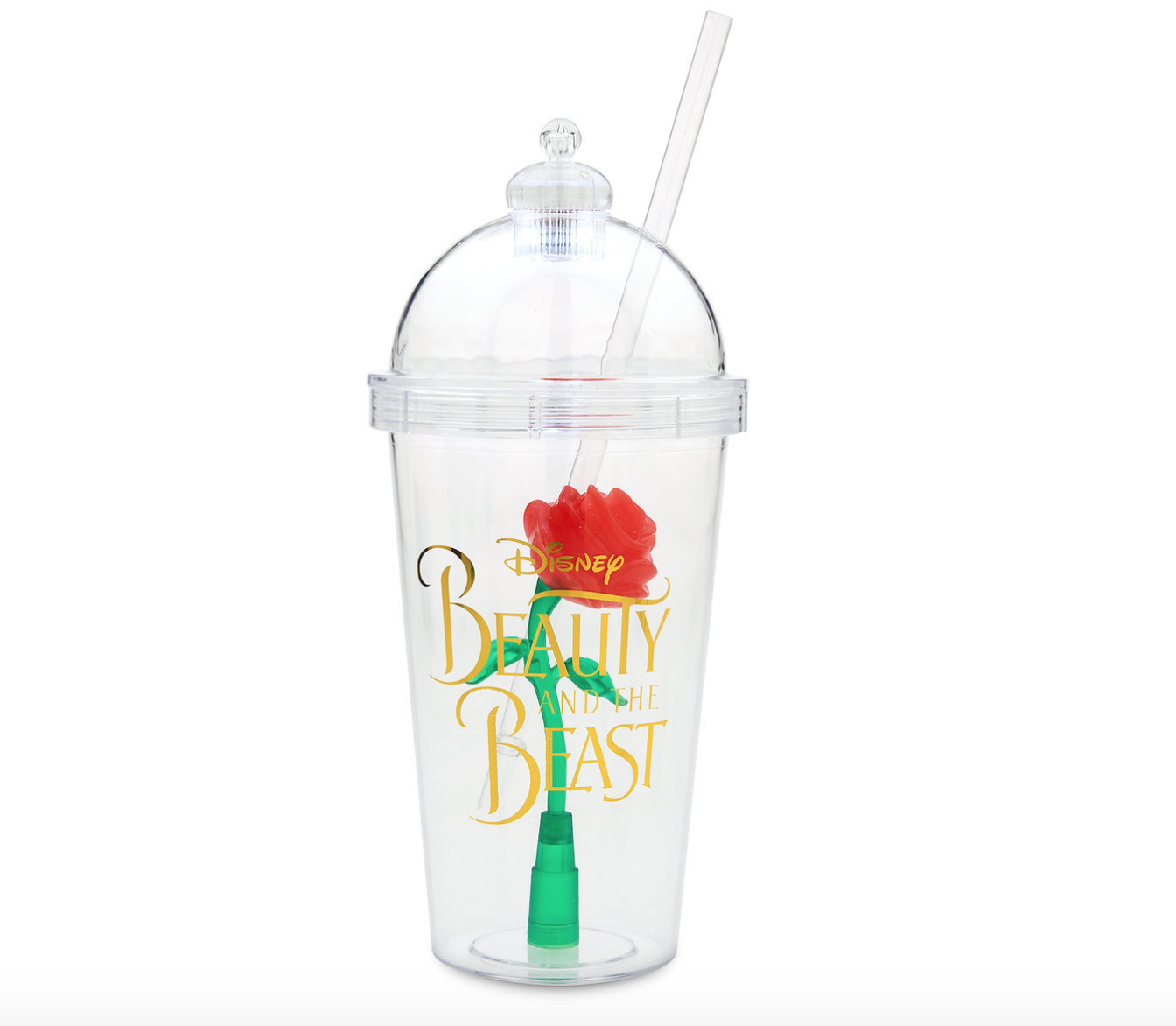 beauty and the beast enchanted rose tumbler