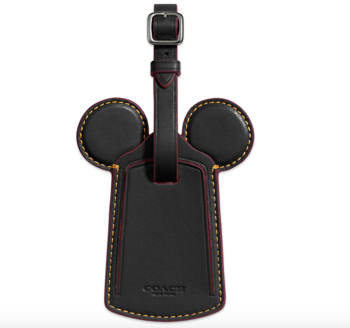 coach mickey luggage tag