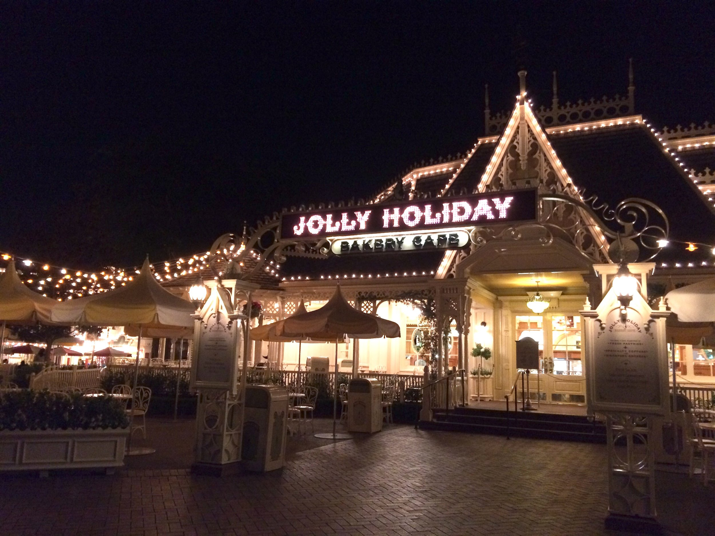 jolly holiday at night disneyland