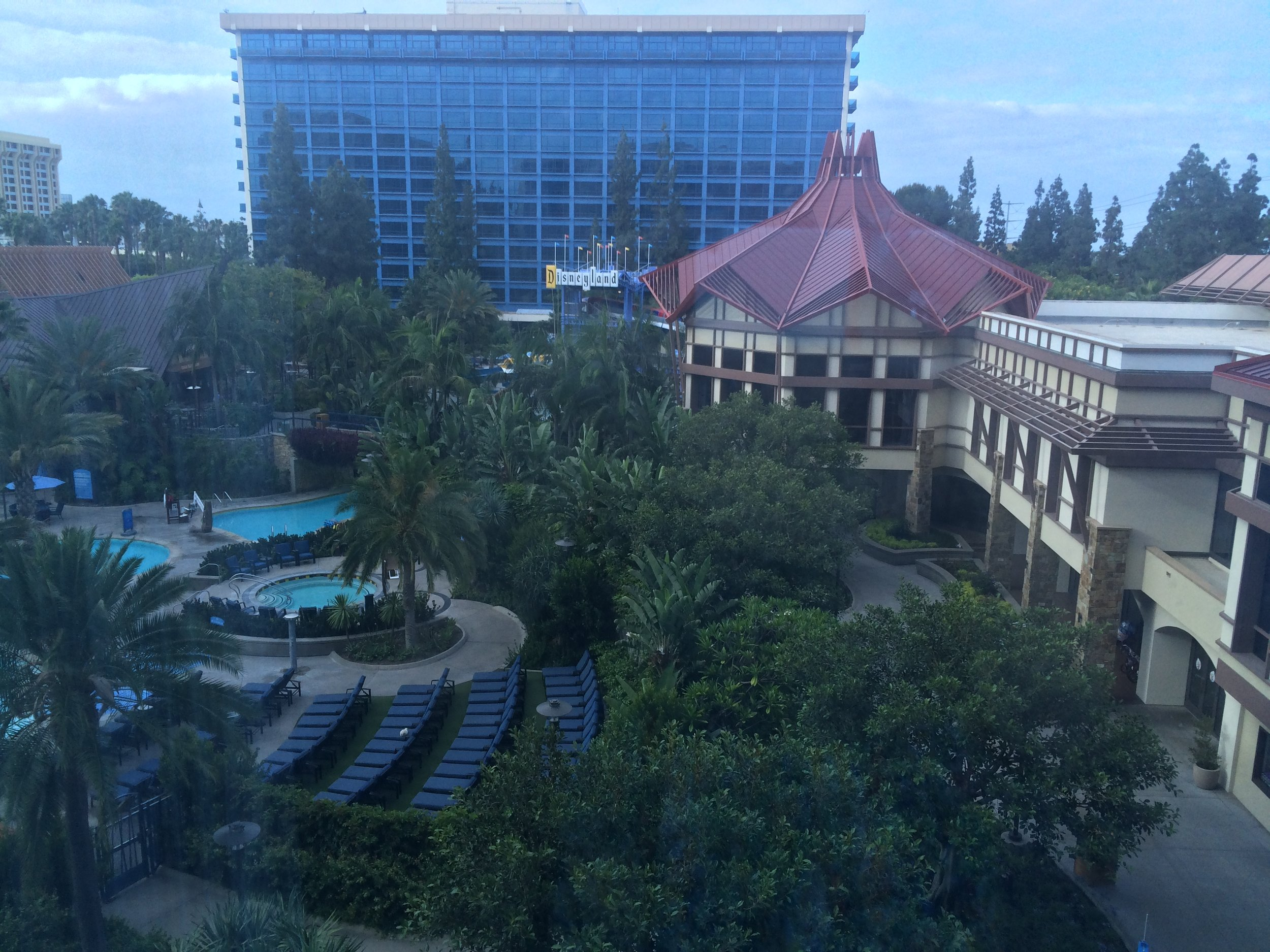 disneyland hotel aerial