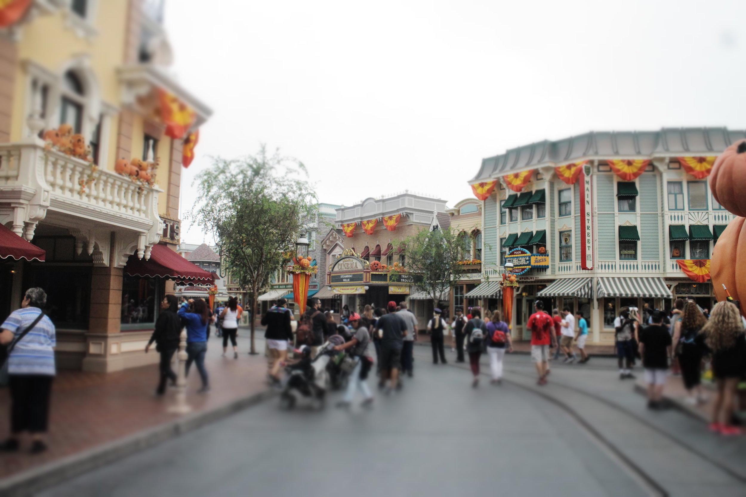 main street usa halloween time disneyland