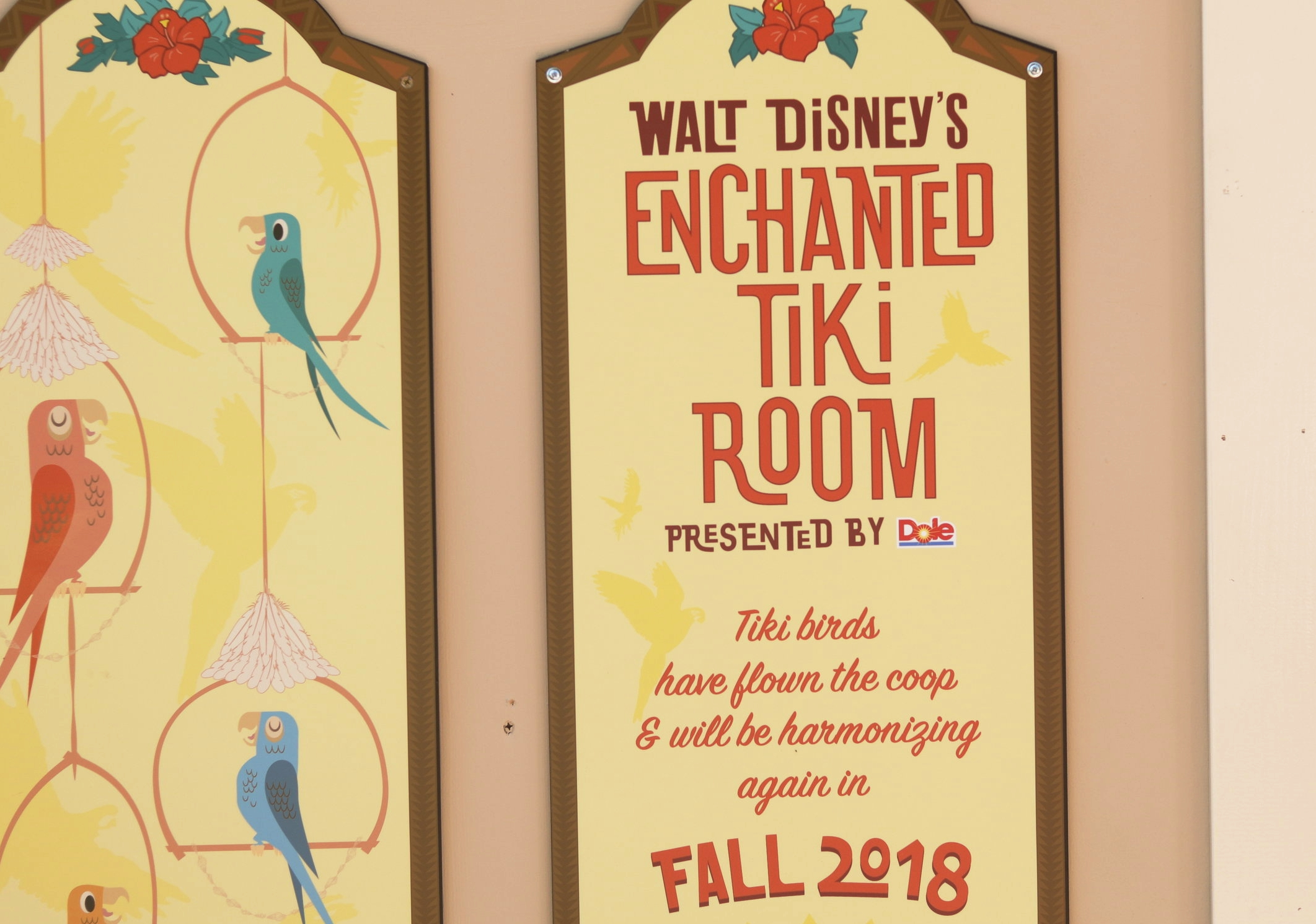 Tiki Room Reopening Fall 2018