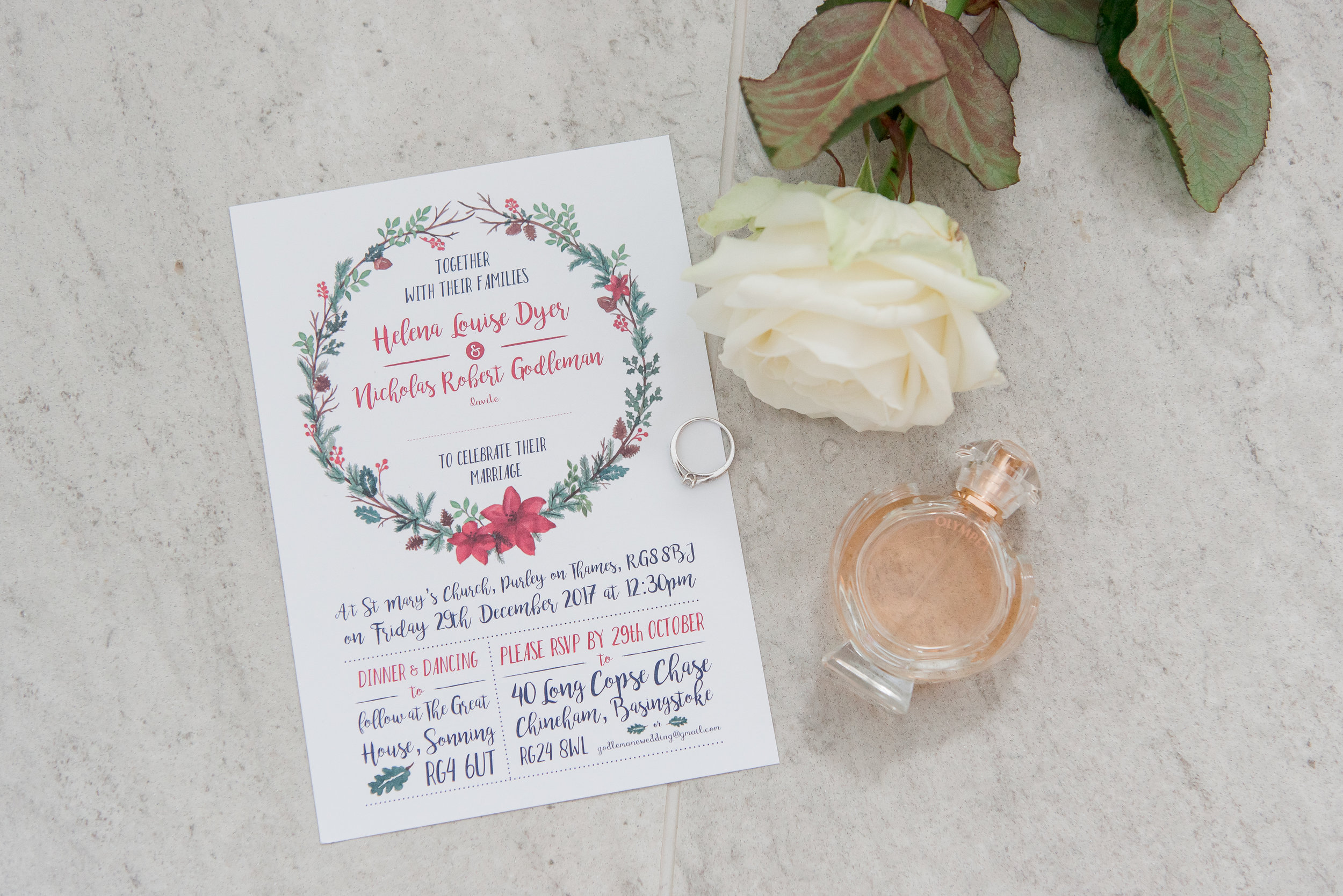 Wedding invitation Berkshire