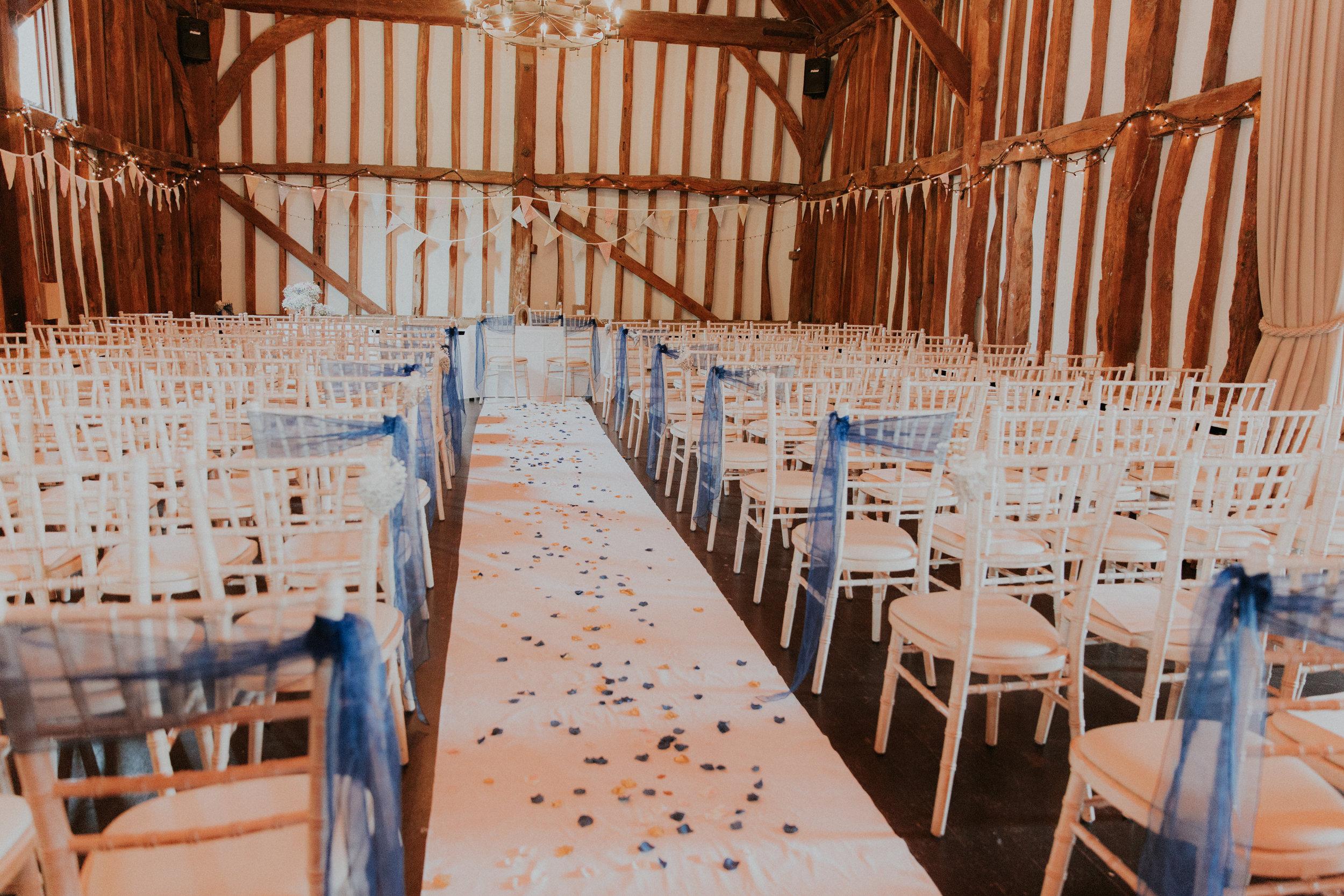 Old Bell Hurley Barn wedding