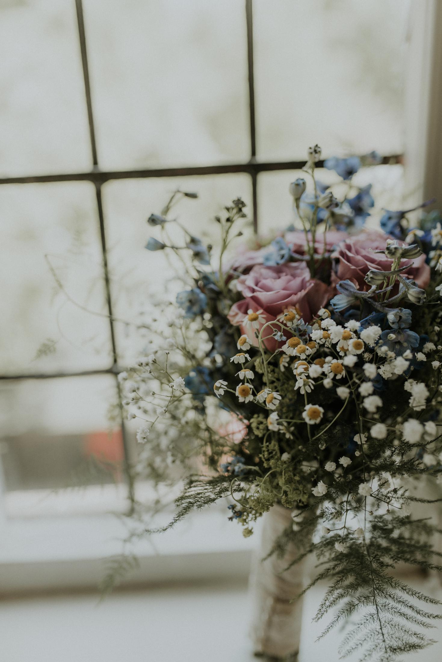 wild wedding bouquet Berkshire